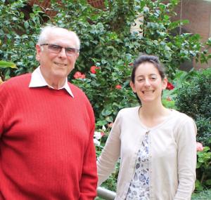 UK Churchill Fellow Gemma Seltzer, with PBA FM's Tony Ryan, Adelaide, 8 May 2015