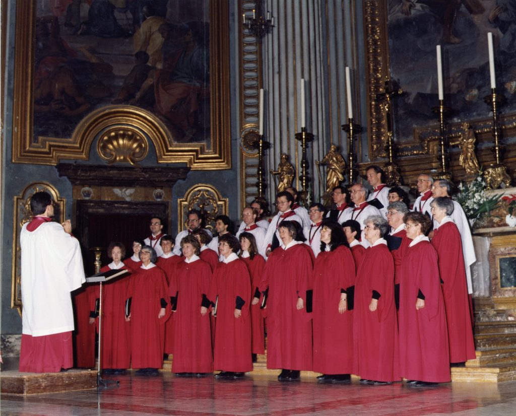 St Francis Xavier Cathedral Choir Adelaide, directed by Dr Melville Waters, in Salzburg Austria in January 1991